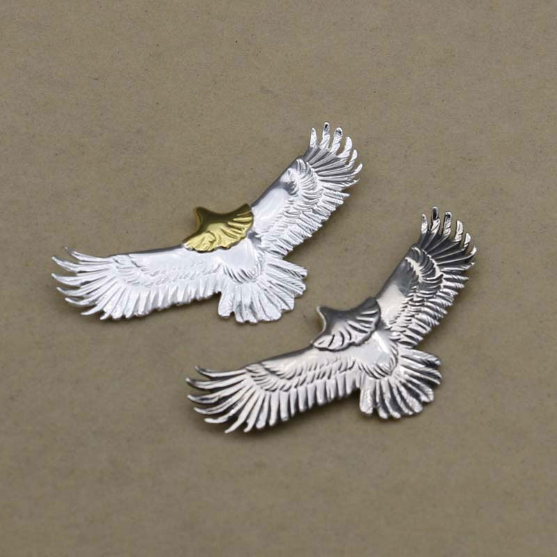 Takahashi Kagura Goro's S925 Sterling Silver Personality Clavicle Chain Pendant Personality Retro Eagle Fashion Pendant Jewelry