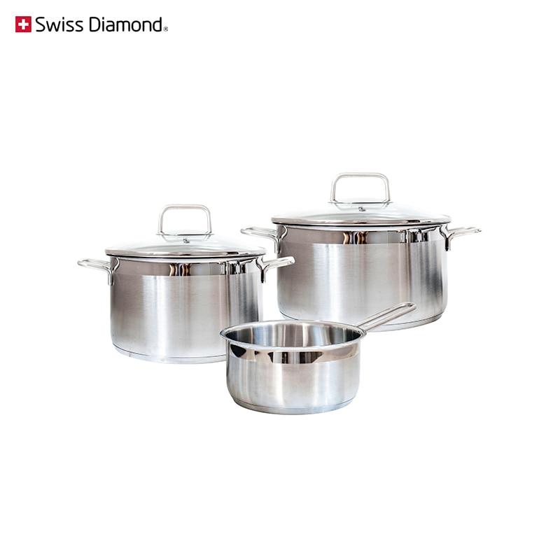 Купить со скидкой Набор посуды Swiss Diamond SD PS SET L3