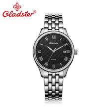 Gladster Роскошные Японии MIYOTA2315 бизнес для мужчин часы модные повседневное кварцевые наручные сапфировое стекло нержавеющая сталь человек