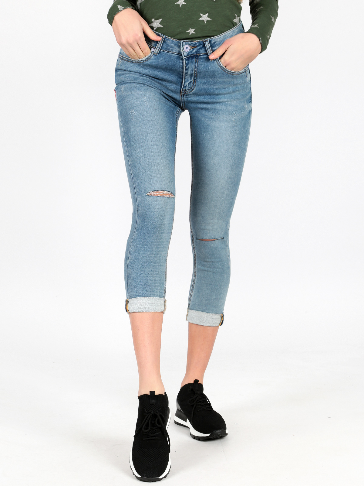 Jeans Slim Fit With Tear