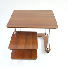 """Журнальный столик """"39А"""" кофейный стол для дома для офиса для гостиной на колесах квадратный с выкатной полкой"""