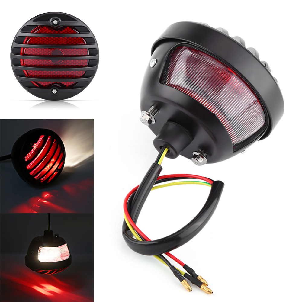 round motorcycle tail brake light for harley bobber chopper scooters rh aliexpress com