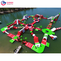 Funny summer water games inflatable floating park,adult inflatable water park with high quality