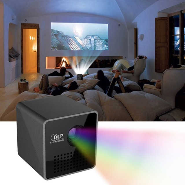 Best Offers P1 Mini Mobile Wireless Portable Projector Pocket Home Movie Projector Smart Home Theater Mini DLP Projector Mini Led Projector