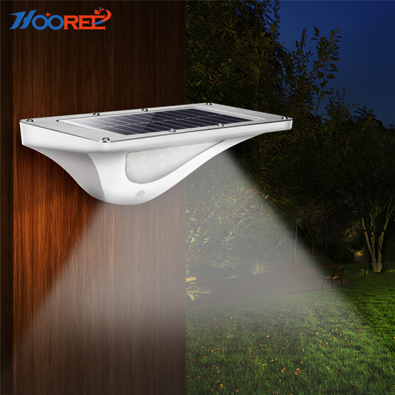 HOOREE 16 LED Solar Light Outdoor Garden Light Waterproof IP65 Wall Lighting for Garage Motion Sensor Sunlight Led Solar Lamp цены