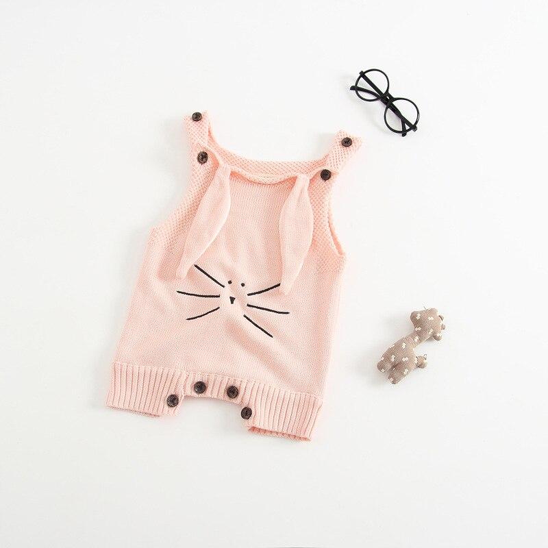 Nowa wiosna Antumn Rabbit Uszy Knitting Baby Romper Miękka - Odzież dla niemowląt - Zdjęcie 5