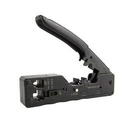 Sieć RJ45 narzędzie do zaciskania Telecom Crimper dla Cat7 Cat6 Cat6 Cat5 kabel wielofunkcyjny RJ45 RJ11 wtyczki metalowe klipsy szczypce  narzędzia