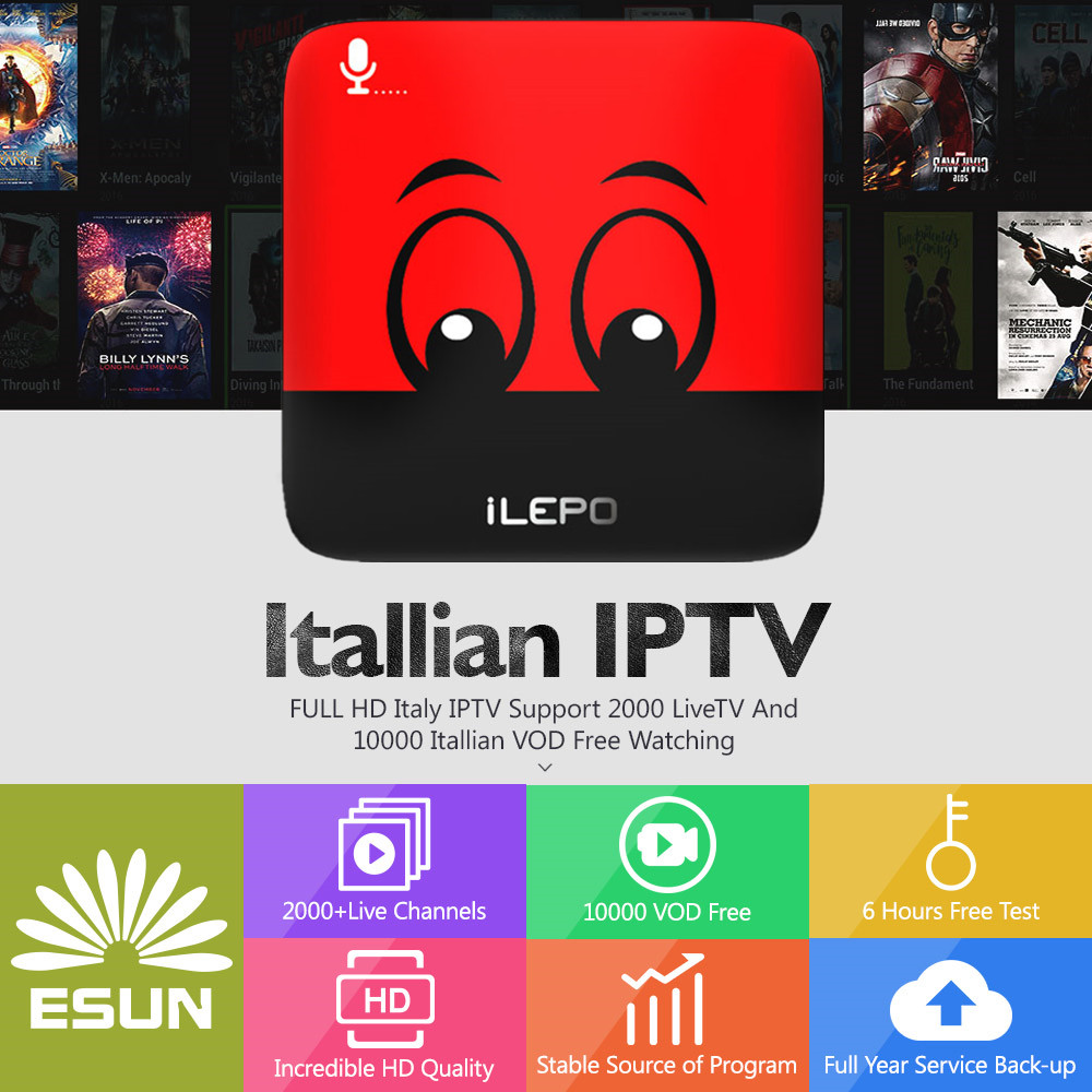 1 Year iLEPO Google Voice Control Android IPTV Free 2G/16G Italy IPTV EPG 4000+Live+VOD configured Europe Albania ex-yu XXX h96mini italy iptv a5 tv box with 1 year 4g 32g italy iptv epg 4000 live vod configured europe albania ex yu xxx channels box