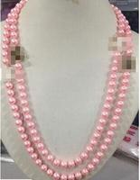 NEW Top Long Lovely 8mm Black Pink White Shell Beaded Necklace 60 Multicolor Opti>>>girls choker necklace pendant Free shipping