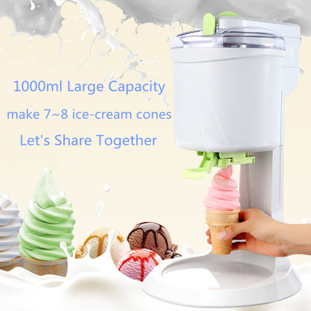 220v 1l capacity automatic soft ice cream cones making machine 220v 1l capacity automatic soft ice cream cones making machine household appliance supplies homemade diy icre cream maker in ice cream makers from home ccuart Choice Image