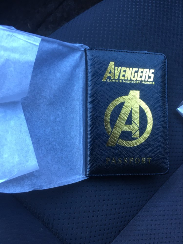 DIKEDAKU Rfid Blocking Passport Holder Men Credit Cards Protection Avengers Pu Leather Travel Cover on The Passport Pouch Unisex photo review