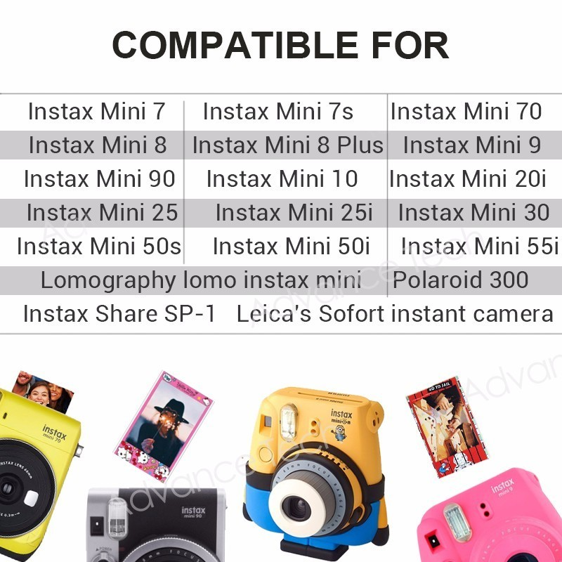 Image 5 - 100 Sheets Fujifilm Instax Mini 8 film for Fuji 7s 9 70 25 50s 90 Instant Photo Camera White FilmShare SP 1 SP 2-in Film from Consumer Electronics