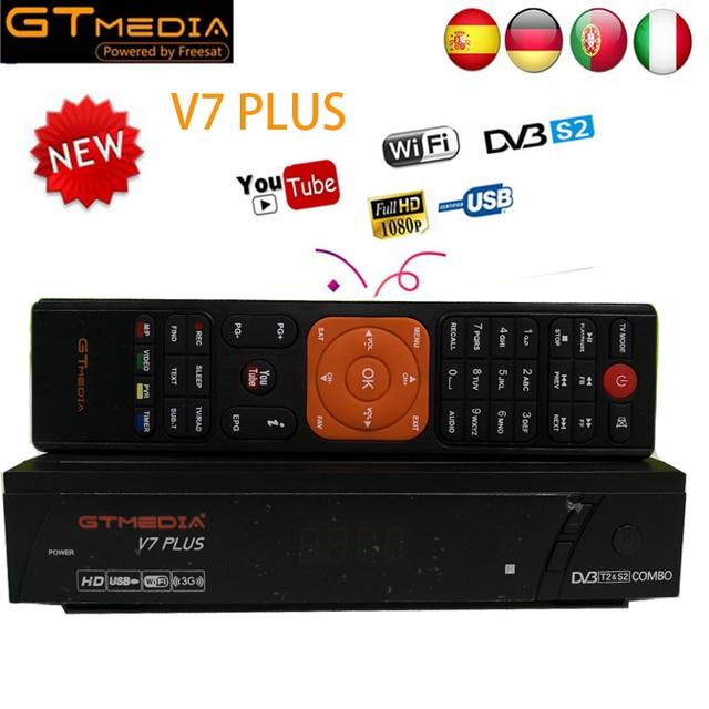 US $34 99  [Genuine] GTmedia V7 PLUS Support powervu Biss key CCcam IPTV  DVB T2 DVB S2 Satellite Receiver DVB T2 S2 decoder cable receptor-in