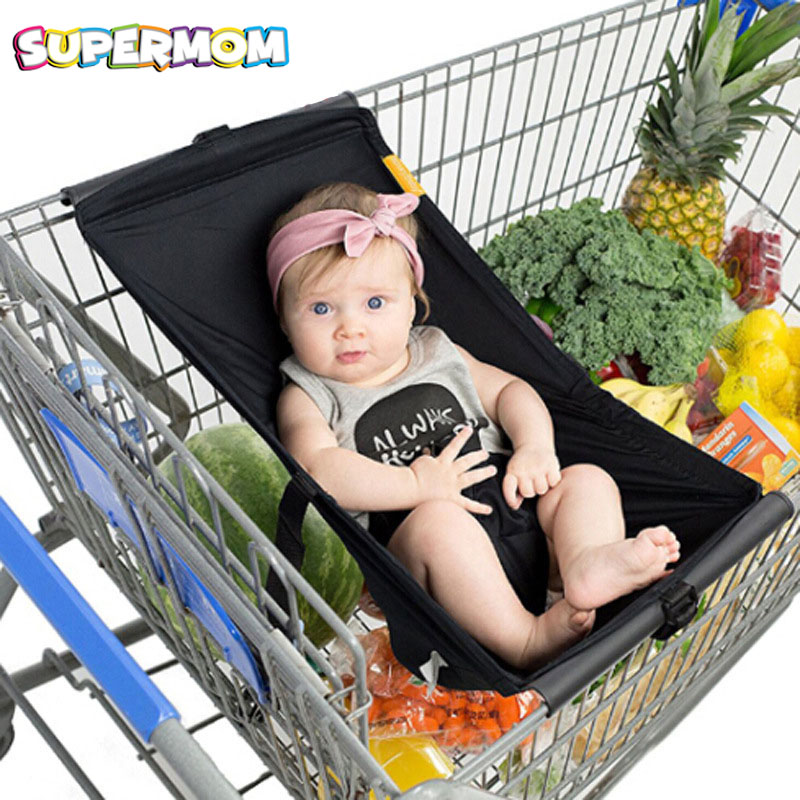 Foldable Baby Kids Shopping Cart Cushion Portable Kids Trolley Pad Baby Shopping Push Ca ...