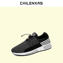 CHILENXAS 2017 Spring Autumn Men Casual Shoes Air Mesh Lace up British Style Breathable Comfortable New Fashion Solid Light