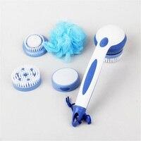 New Spa Massage Electric Shower Brush Cleaning Bath Brush Scrub Spin System Long Handled Bathroom Tool