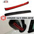 Зеркальный спойлер для Renault Logan 2004-2018 аэродинамическая резиновая отделка анти-всплеск охранные предметы брызговик автомобиля Стайлинг