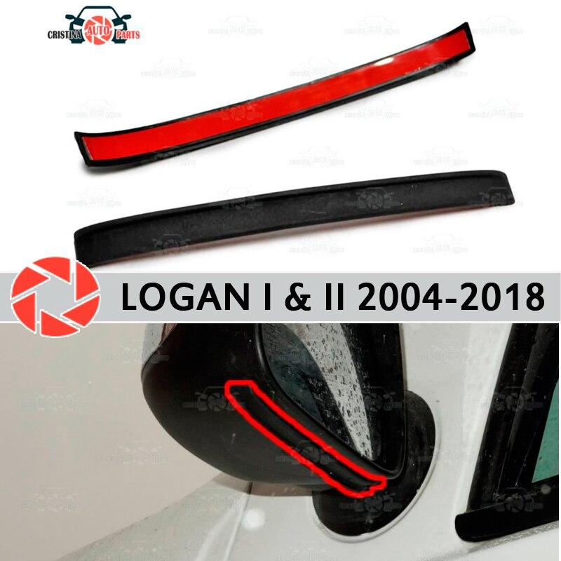 Mirror spoiler for Renault Logan 2004-2018 aerodynamic rubber trim anti-splash guard accessories mud guard car styling