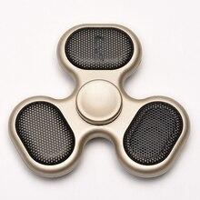 Новые звук стороны Spinner музыку цветные spiner Свет Finger Непоседа Tri Spinner # Sound49