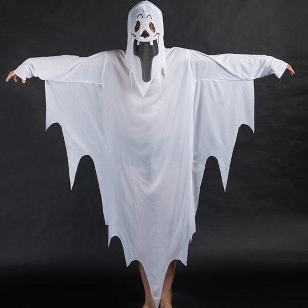 Disfraces de Halloween blanco fantasma vestido andrajoso máscara chica niño  niños disfraces Cosplay d47d0577551bf