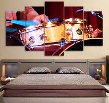 Canvas One Set Musical Instrument Landscape Painting HD Printed  5 Piece Decor Home Wall Art Modular Picture Framework