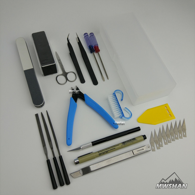 MWS Basic Tool Set for Tamiya Trumpeter Meng Gundam Palsitc Model Kits DIY Suite Of Tools Hobby Accessory 1