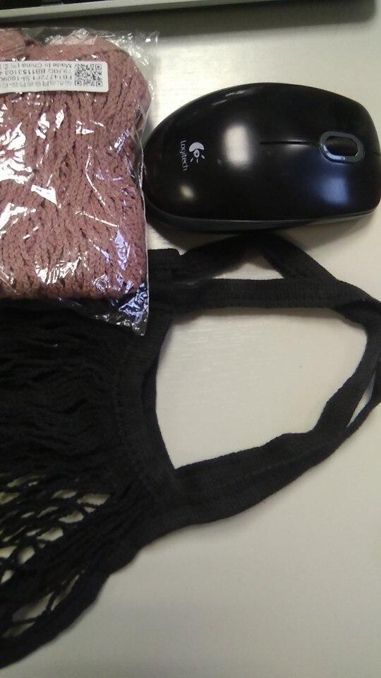 Reusable Fruit Shopping String Grocery Shopper Cotton Tote Mesh Woven Net Bag photo review