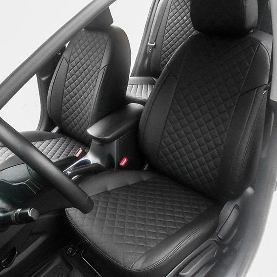 For Kia Cerato 3 2013-2018 special car seat covers full set Autopilot Eco-leather ROMB jado car dvr 5 0 ips screen full hd 1080p car dvrs dual lens recorder car camera dashcam rearview mirror registrar