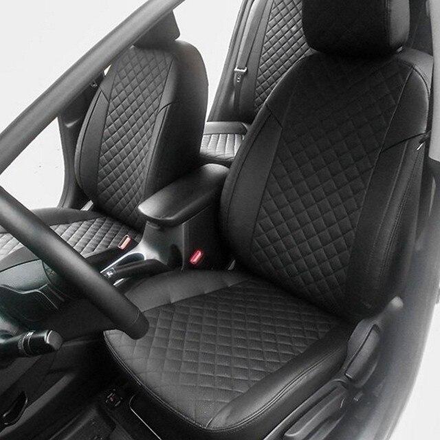 Для Kia Cerato 3 2013-2018 специальные автомобильные чехлы на сиденья полный комплект автопилот эко-кожа ROMB