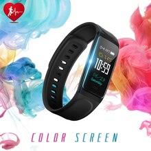 Tela colorida Pulseira Inteligente Pedômetro C7S Faixa de Relógio Inteligente Monitor de Pressão Arterial e Freqüência Cardíaca Pulseira De Fitness rastreador Atividade