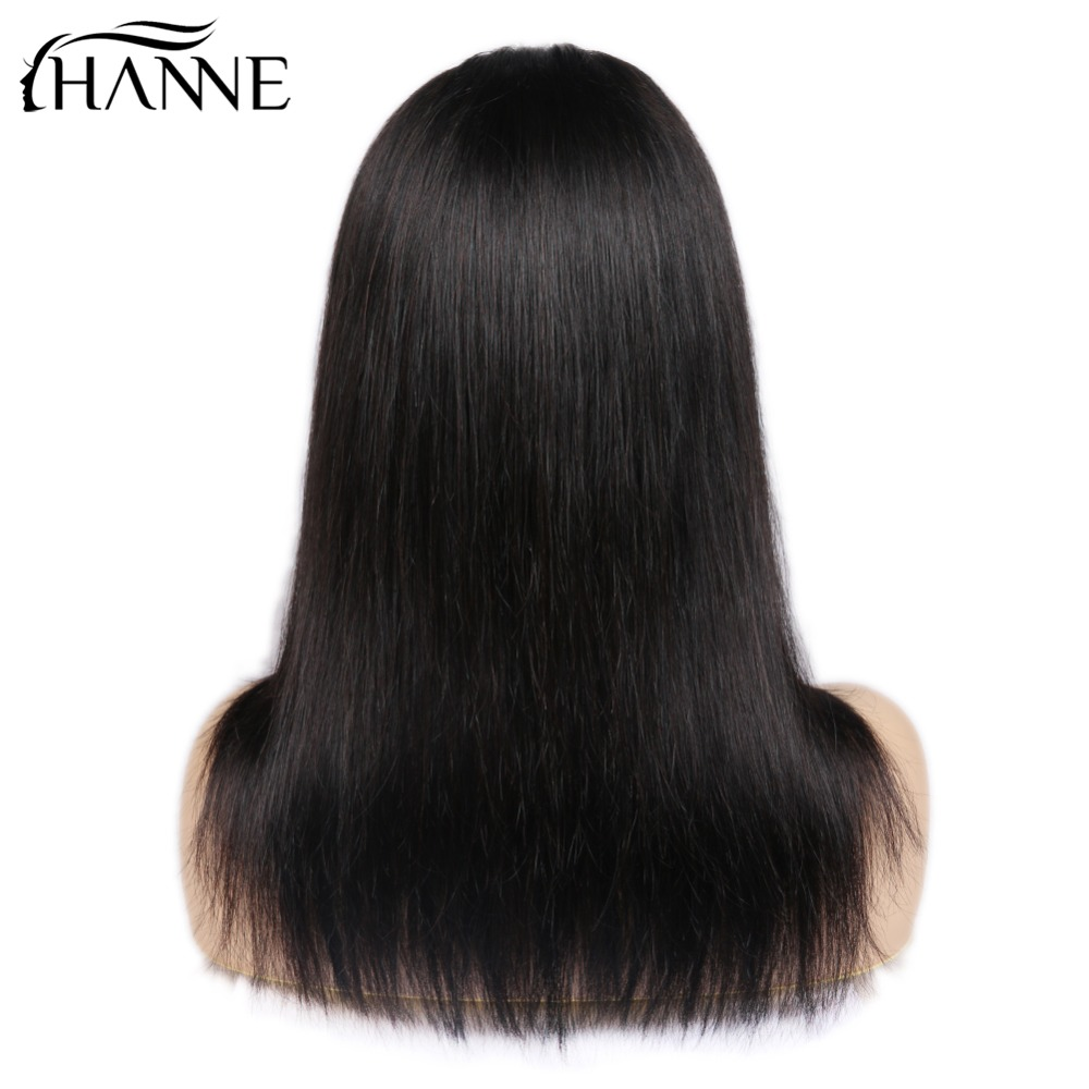HANNE Hair 4 4 Lace Closure Human Hair Wigs Middle Part Remy Straight Hair Glueless Brazilian