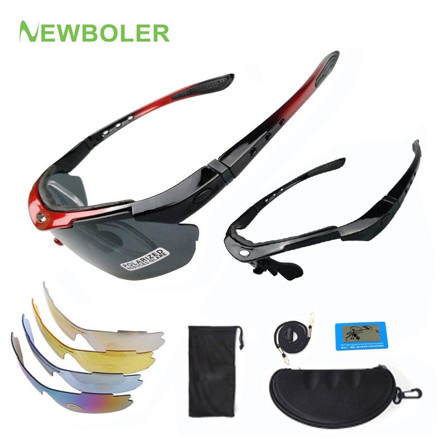 Outdoor Polarizzati Ciclismo Occhiali da sole 5 lente Unisex Occhiali ANTIVENTO MOTO UV400