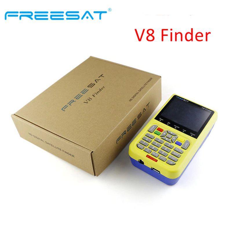Freesat v8 Finder DVB S2 Satellite Finder Meter Receptor Tuner Sat Finder with 3.5 LCD Dish MPEG-4 Sat Finder DVB-S2 HD ReceiverFreesat v8 Finder DVB S2 Satellite Finder Meter Receptor Tuner Sat Finder with 3.5 LCD Dish MPEG-4 Sat Finder DVB-S2 HD Receiver
