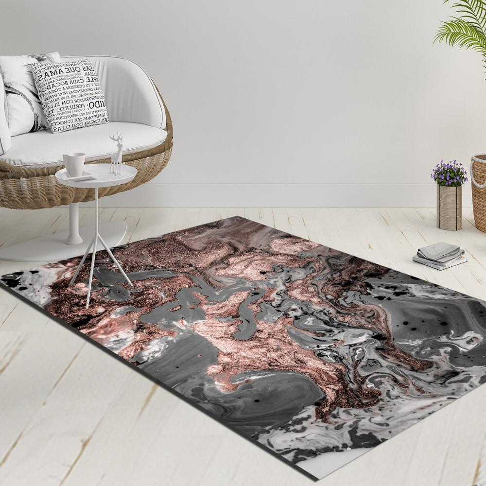 Else Back Gray Brown Abstract Watercolor Decorative 3d Print Anti Slip Kilim Washable Decorative Kilim Rug Modern Carpet