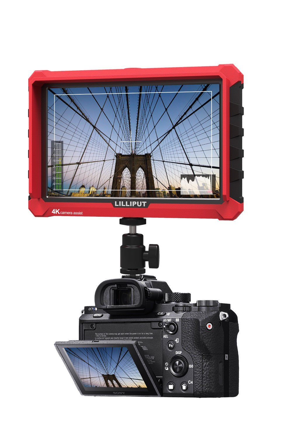 Lilliput A7S 7 Inch On Camera Field Monitor Supports 4K HDMI Input Loop Output 1920x1200 Native Brightness Wide Viewing Angle aputure vs 5 7 inch sdi hdmi camera field monitor with rgb waveform vectorscope histogram zebra false color to better monitor