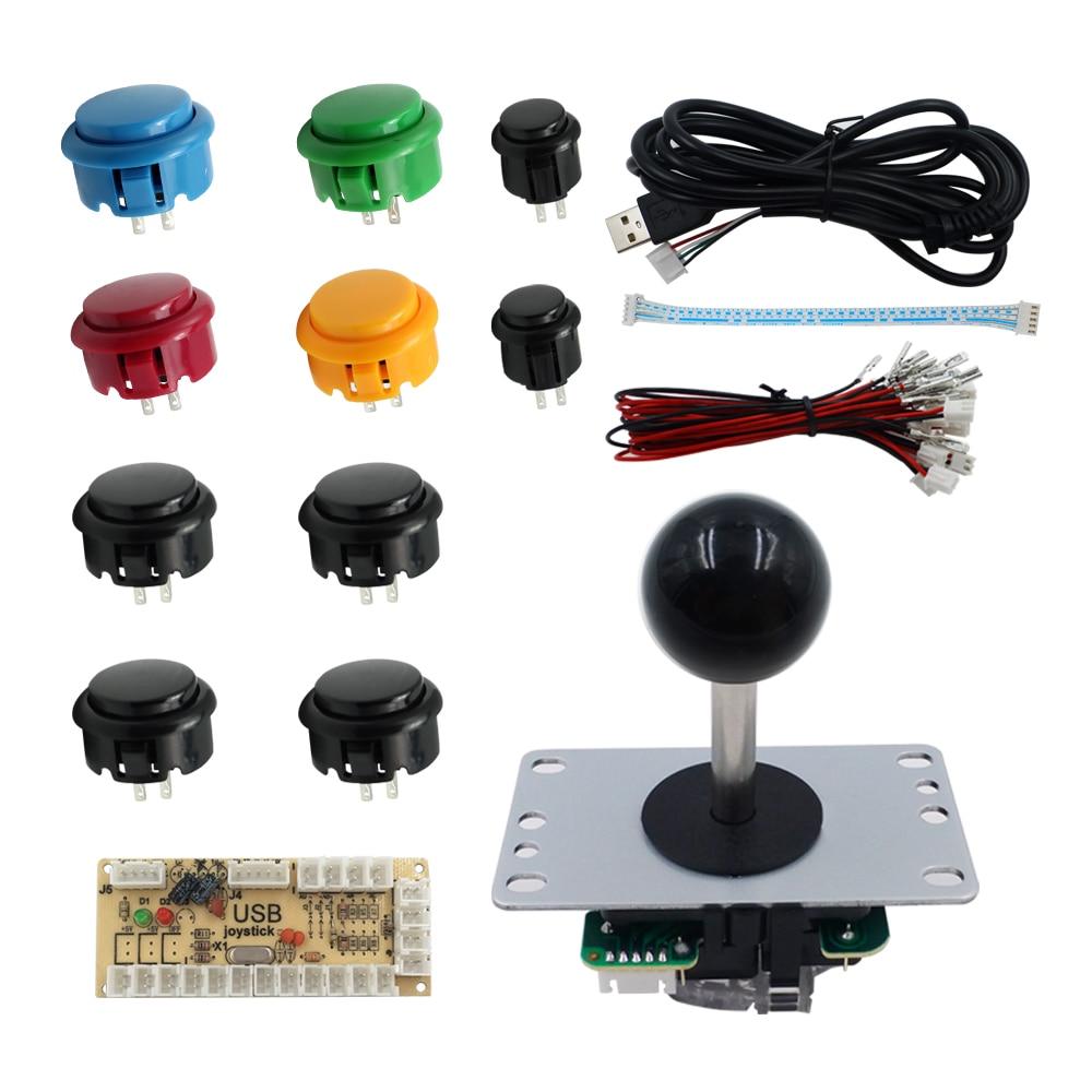 SJJX Joystick PC MAME Arcade Controller Button Windows Controller Retropie Raspberry Pi DIY Kit Arcade Game