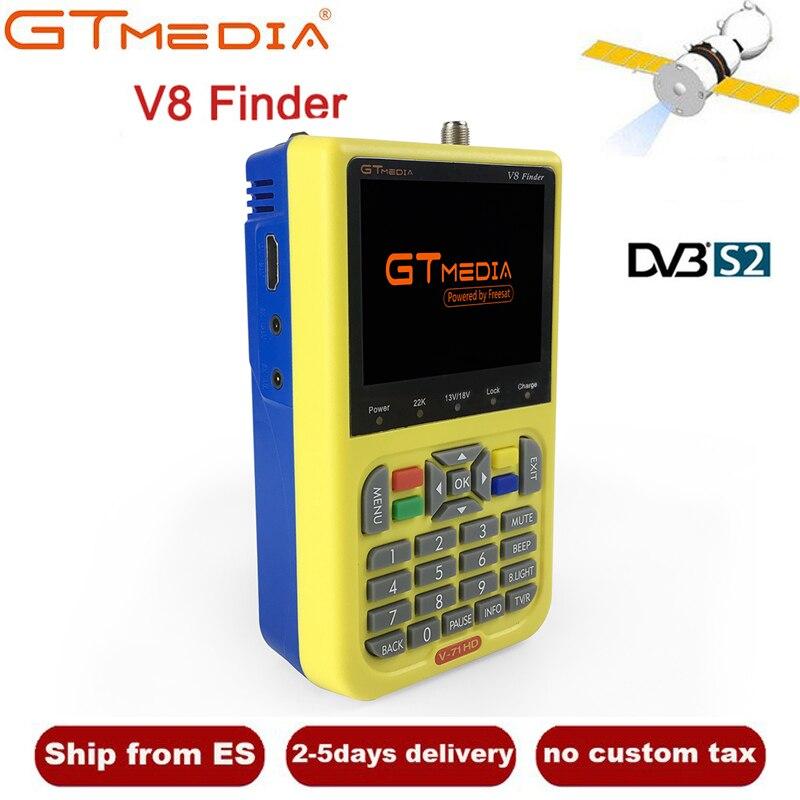 GTMEDIA/Freesat V8 Finder HD DVB-S2 Digital Satellite Finder High Definition 1080 p Sat Finder DVB S2 Satellite Meter satfinder