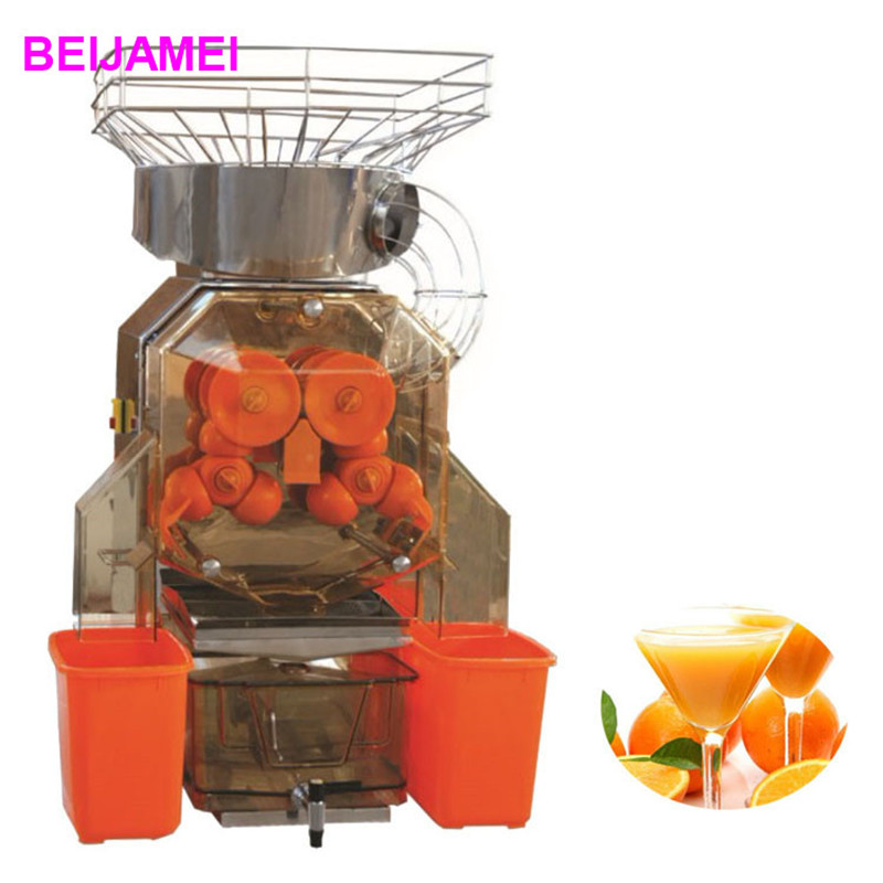 BEIJAMEI A 1 High capacity commercial orange juice squeezer/industrial citrus squeezing machine/automatic fresh orange juicer