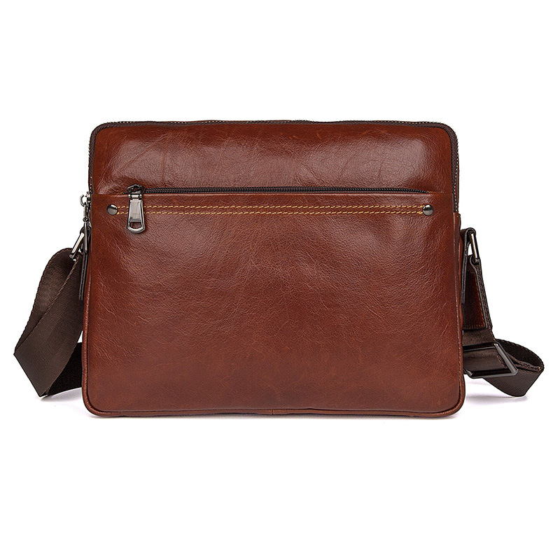 Messenger Bags Cow Leather Brown Business Casual Ipad Phone Notebook Crossbody Travel Vintage Fashion Shoulder Bags for Men Messenger Bags Cow Leather Brown Business Casual Ipad Phone Notebook Crossbody Travel Vintage Fashion Shoulder Bags for Men