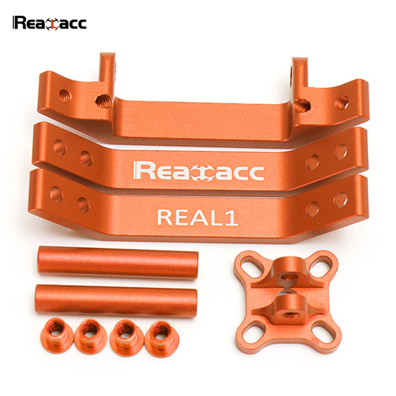 Original Realacc Real1 Frame Kit CNC Aluminum Alloy Part Orange Red Blue For RC Quadcopter Models Spare Part original aosenma cg035 rc quadcopter spare part gps receiver board for rc models toys multirotor transmission accs