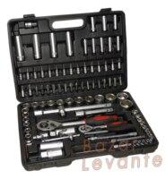 """Aletler'ten El Aleti Setleri'de Evrak çantası DE aletleri 94 adet cırcır kolu 1/2 """"1/4"""""""