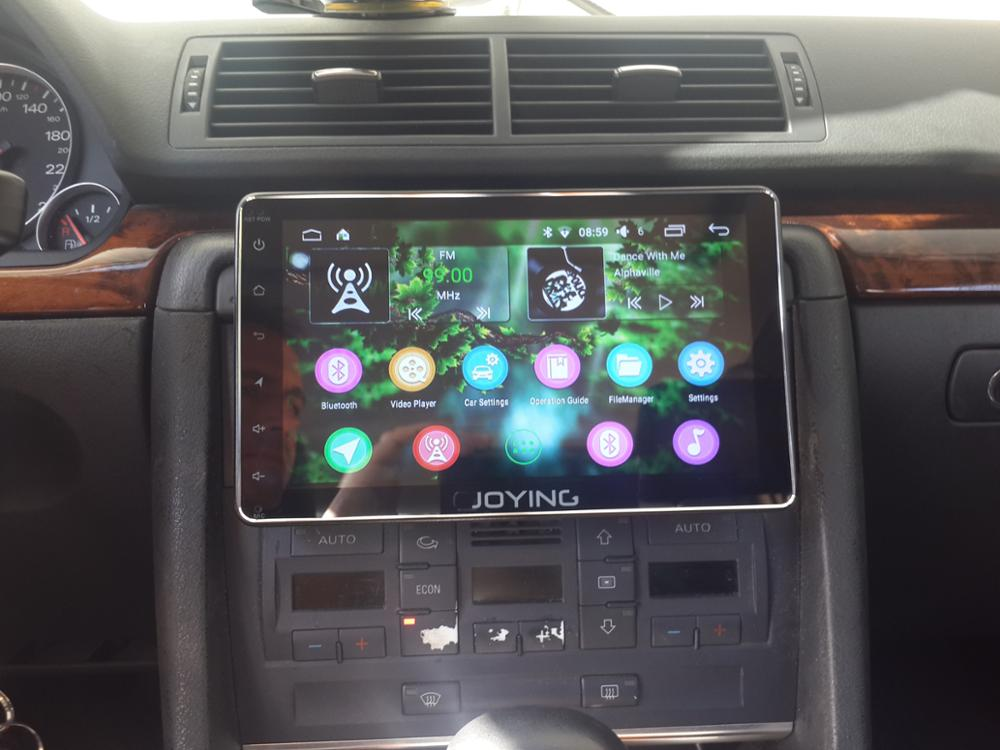 JOYING Latest 8inch Single 1 din Universal Touch screen 4G DSP car radio  player Android 8 1 car audio SPDIF stereo GPS NO CD/DVD