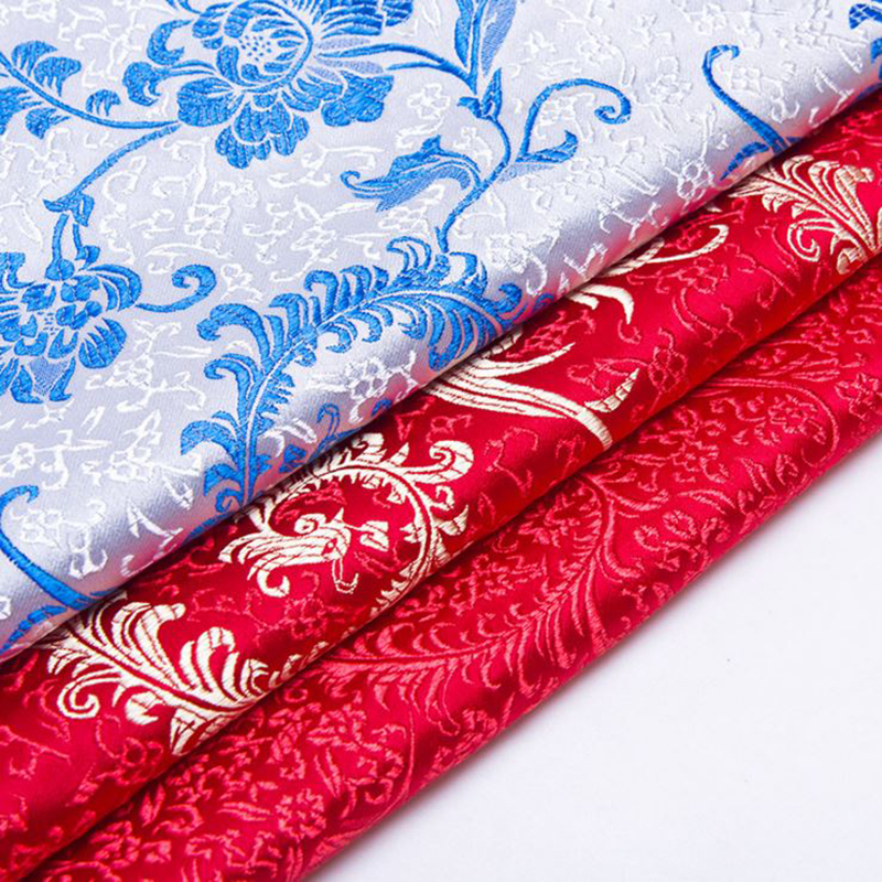 new arrival brocade woven peacock tail fabric for patchwork felt tissue telas dress bed sheet children cloth cos play 100x75cm