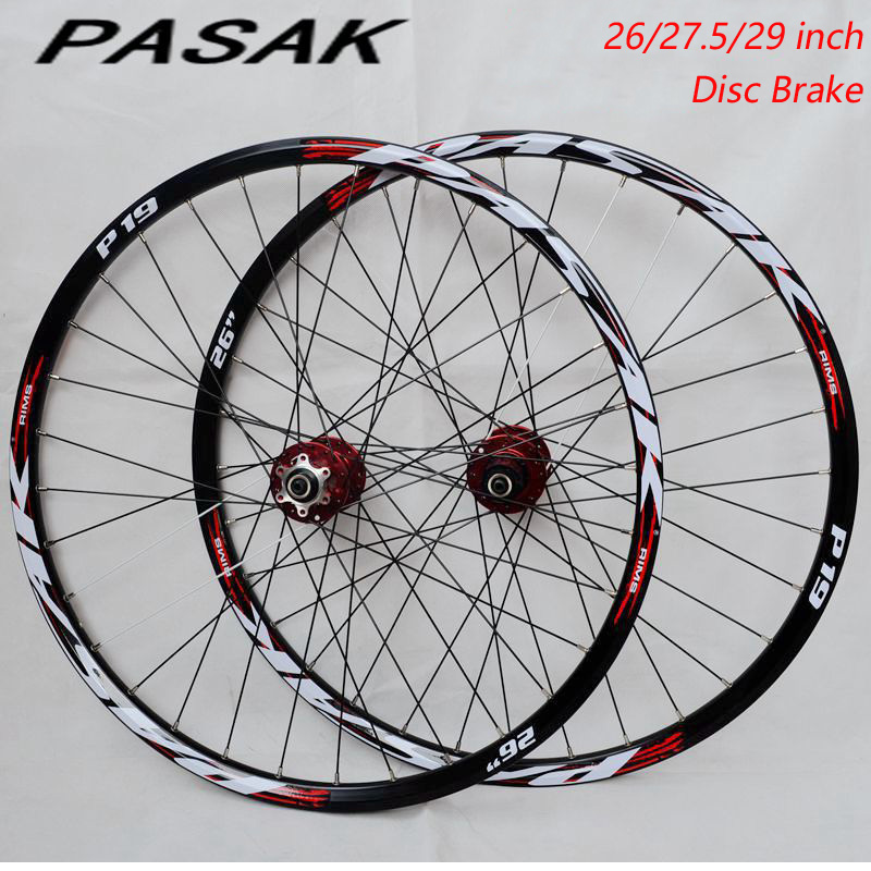 High Quality wheel 26inch 27.5inch 29inch MTB Mountain Bike 32H Disc Brake Bicycle wheels front 2 rear 4 bearings wheelset цена