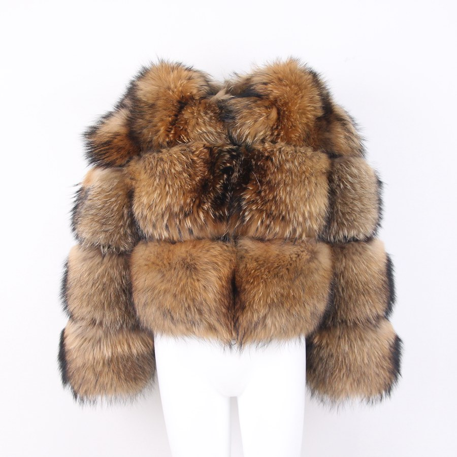 PINK JAVA QC1884 new arrival free shipping women winter real raccoon fur coat fluffy hot sale