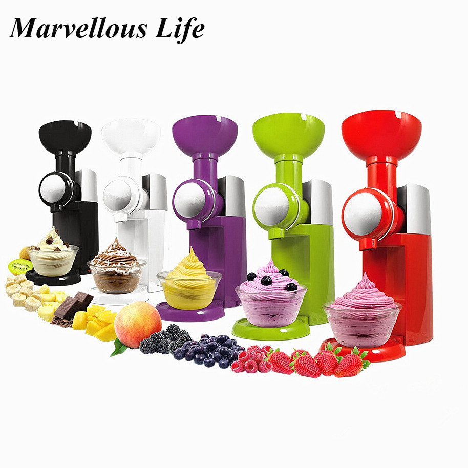 Ice Cream Machine Slush Maker Automatic Frozen Fruit Dessert Milkshake Machine Mini DIY Ice Cream Maker Electric Slush Machine