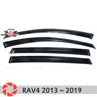Окна дефлектор для Toyota Rav4 2013 ~ 2019 Дождь Отражатель грязь защиты Тюнинг автомобилей украшения аксессуары для литья