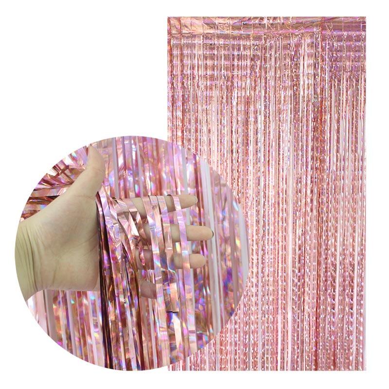 2*1m Rainbow Foil Curtains Wedding Decor Photography Backdrop Curtain Photo Props Bachelorette Adult Birthday Party Decorations