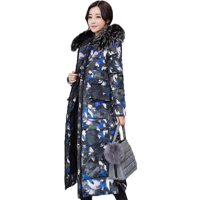 Nouvelle Veste D'hiver Femmes Chaud Épais Femelle Outwear Long Manteau Parkas Femmes Parkas