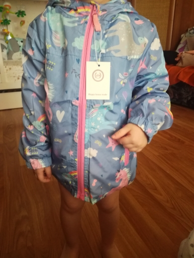 New Spring Hooded Unicorn Rainbow Jackets photo review